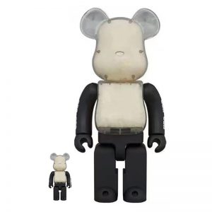 Bearbrick Atmos x UGG Clear Collection 100% 400% Combined By Medicom Toy