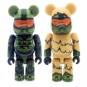 Series 28 S28 100% Halo and Halo(Sccret) By Bearbrick Medicom Toy