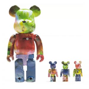 Bearbrick Pushead 3 Different Colors 100% & 400% Action Figure (4-Pack Set) By Medicom Toy